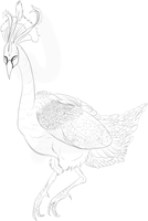 W.I.P Peacock by Whitelupine