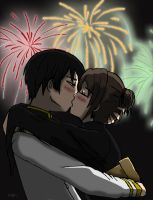 Kiss in a japanese festival by ArantxaCosplayer