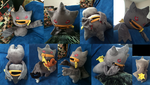 Banette Pokemon Plush! Poseable! Working Zipper! by GuardianEarthPlush