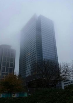 Foggy Morning in the City by kitty-cat-cait