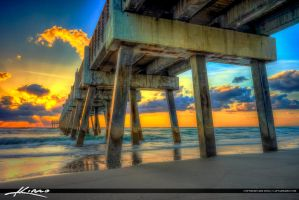 Juno-Beach-Pier-at-Sunrise by CaptainKimo