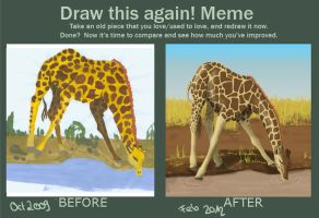 Draw this again - My first submission by BlackCatKaya