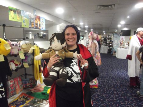 Me (Konan) and Plushie Eren ^w^ by Fran48
