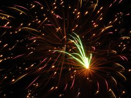 Fireworks resembling Space by Toderico