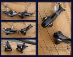 Orca Earrings by redvarg