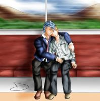 Grimmichi Day Contest - on the train by Bleastvampire