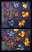 Eevee Evolution Set by BklynSharkExpert