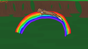 Slide on the Rainbow!! :gift: by TheBlazingEmber