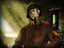 Apocalyptic soviet officer by Resonance-crea