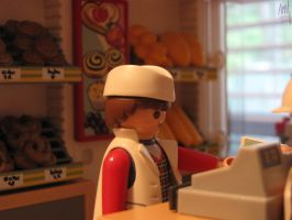 Playmobil Baker by CarbonHedgehog