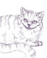 Cheshire Cat sketch by wiccimm