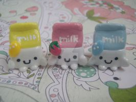 Kawaii Hannari Milk Charms by mia831