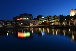 Wellington at dusk, long exposure by thomasGoodwin
