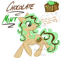 MLP - Adoptable Chocolate Mint [CLOSED] by CindryTuna
