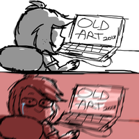 seeing old art be like by Mr-Evilness