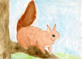 Red Squirrel by Hatters-Workshop