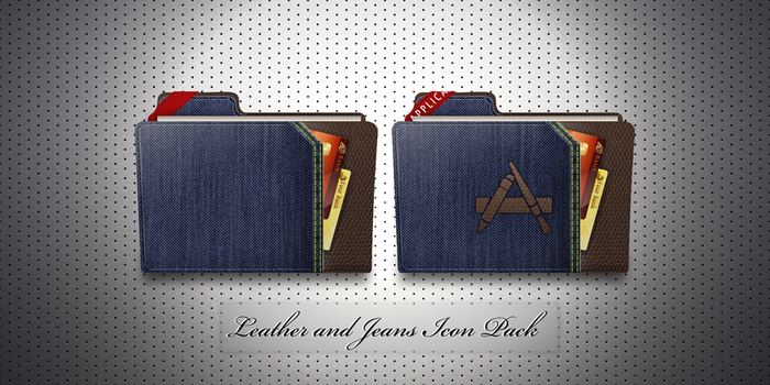 Leather and Jeans Icon Pack by janmarkelj