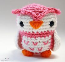 Pink Owl Amigurumi by adorablykawaii