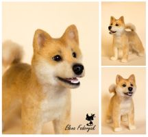Shiba Inu needle felted dog by KittenBlackUA