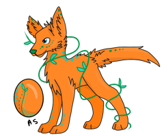 Egg Adopt A5 Hatched: wolf pup by LaurenBlu