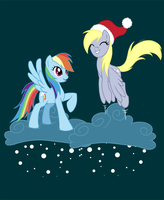 MLP FIM: Rainbow Dash and Derpy by Pinkuh