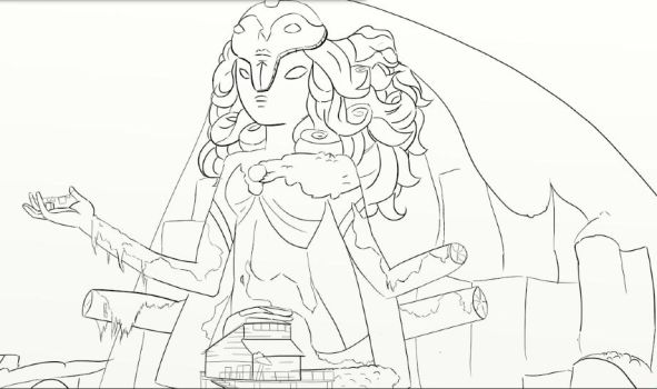 Temple Lineart by Taegri
