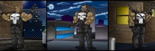 Bear in Punisher Outfit Time Three. by Atariboy2600