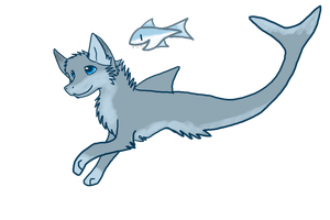 Shark-Wolf Adoptable .:Closed:. by Love-Adopts