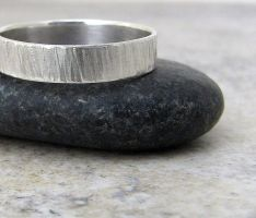 Hammered Tree Bark Silver Ring by SilverSmack