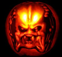 Predator Pumpkin by born-flyer