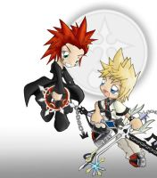 Axel and Roxas Chibi by musicfreak312
