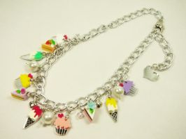 Cupcake-Ice Cream Necklace by SweetandCo