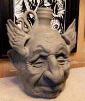 Old Man Dreaming he can Fly Jug-WIP by thebigduluth