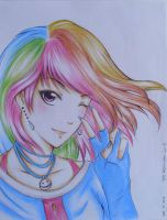 Humanized Rainbow Dash by Recca-Kun