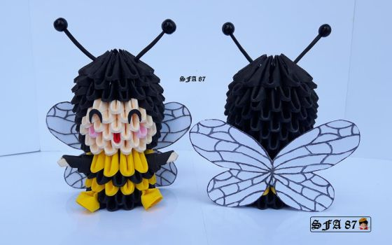 Bee kid Origami 3d by Sfa87