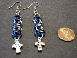 Helm Chain Earrings by gnomeofmaille