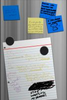 Dissidia - Fridge Notes by insane-little-angel