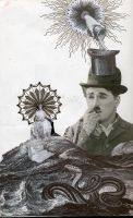 unfinished Chaplin collage by MadamStephana