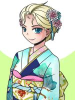 Elsa in Kimono by Evelynism