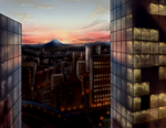 Memory of Mount Fuji Sunset from Tokyo Station by Foxxeh