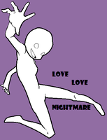 LOVE LOVE NIGHTMARE base by littlelilyluna