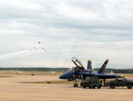 Blue Angels arriving by Qphacs
