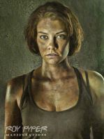 The Walking Dead: Maggie: Oil Paint Re-Edit by nerdboy69