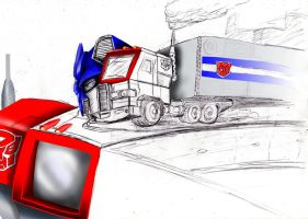 G1 Optimus Prime:- Modes Devided (W.I.P) colour V2 by magigrapix