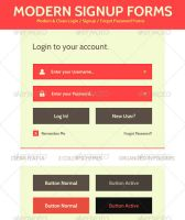 Modern Login Signup Forms by JamesRuthless