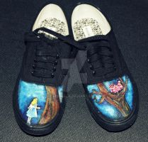 Alice in Wonderland Shoes by harperella