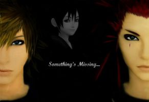 -Something's Missing...- Axel+Roxas+Xion by Mannie258