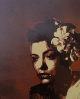 Billie Holiday Spraypaint by STiX2000