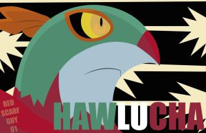 Hawlucha Wallpaper by RedScarfGuy01