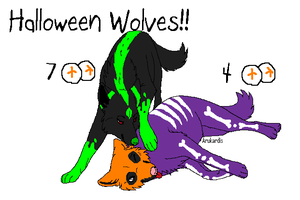 Halloween Wolves!! by BlackWolf1112-ADOPTS